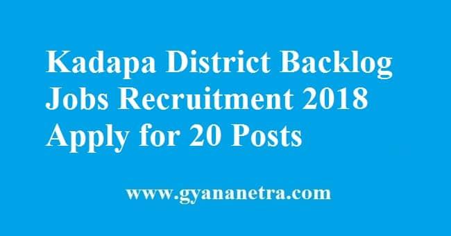 Kadapa District Backlog Jobs