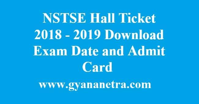 NSTSE Hall Ticket