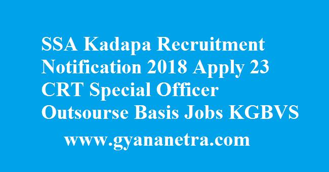 SSA Kadapa Recruitment Notification