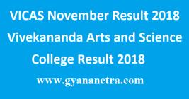 VICAS November Result 2018
