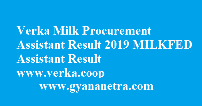 Verka Milk Procurement Assistant Result
