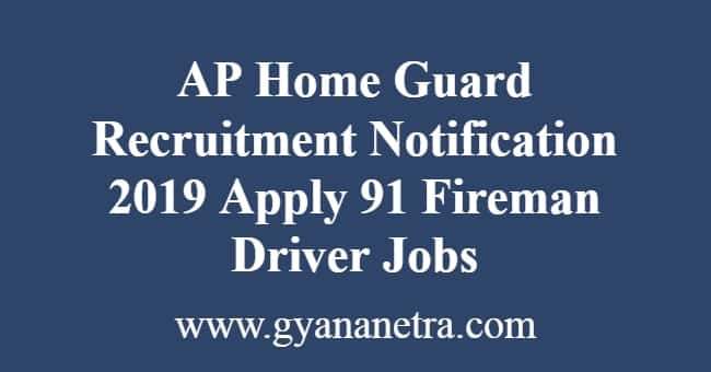 AP Home Guard Recruitment Notification
