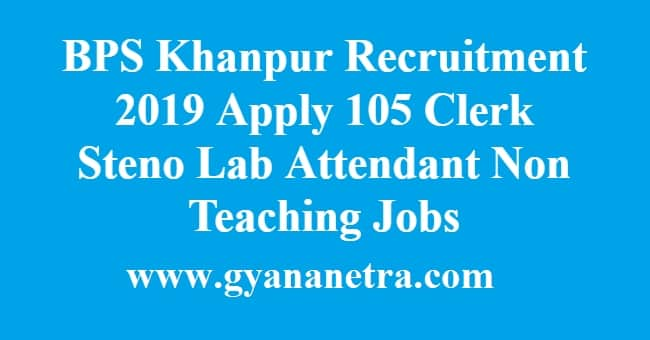BPS Khanpur Recruitment