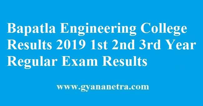 Bapatla Engineering College Results