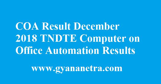 COA Result December