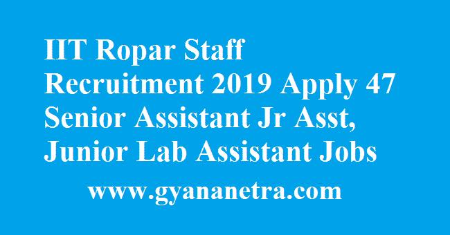 IIT Ropar Staff Recruitment