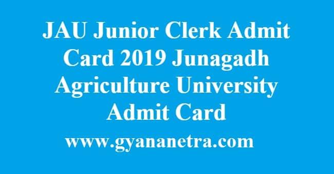 JAU Junior Clerk Admit Card