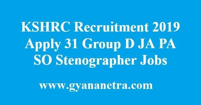 KSHRC Recruitment
