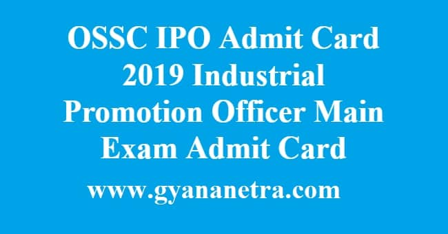 OSSC IPO Admit Card