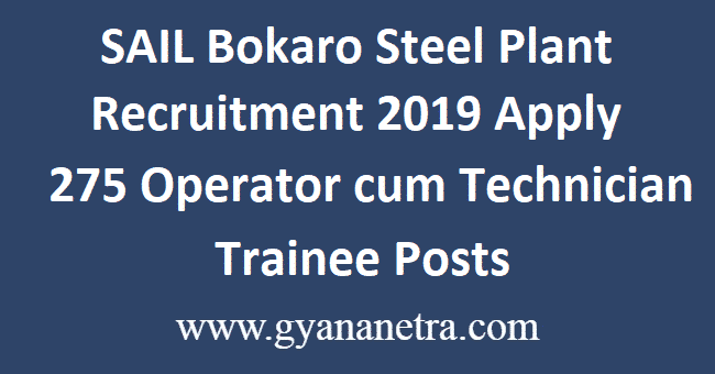 SAIL-Bokaro-Steel-Plant-Recruitment-2019