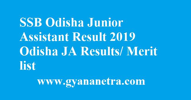 SSB Odisha Junior Assistant Result