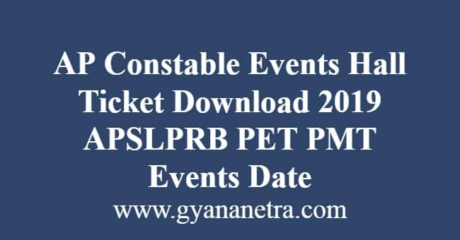 AP Constable Events Hall Ticket Download