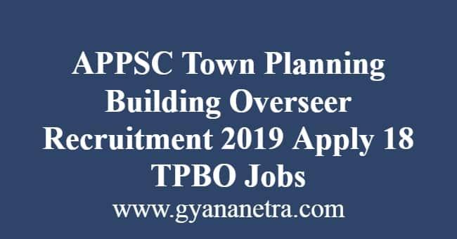 APPSC Town Planning Building Overseer Recruitment