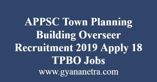 APPSC Town Planning Building Overseer Recruitment
