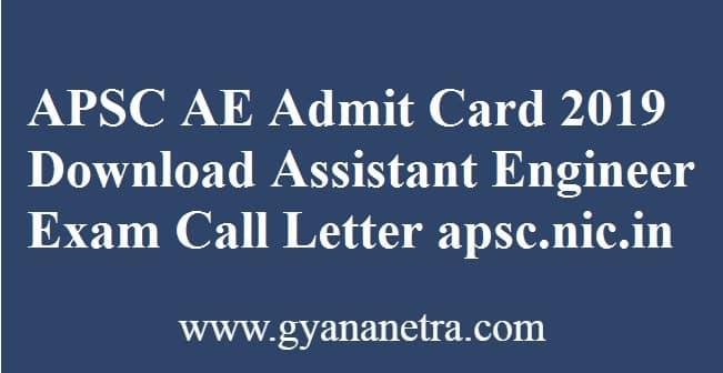 APSC AE Admit Card