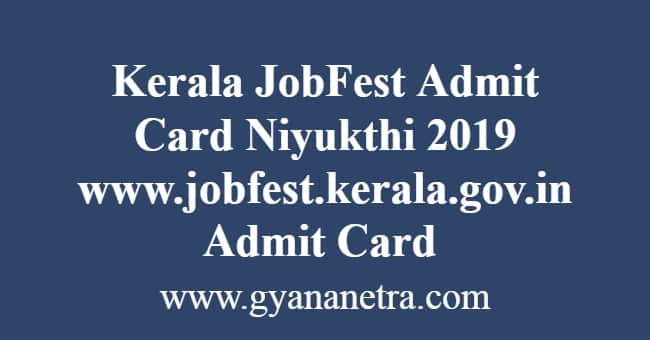 Kerala JobFest Admit Card