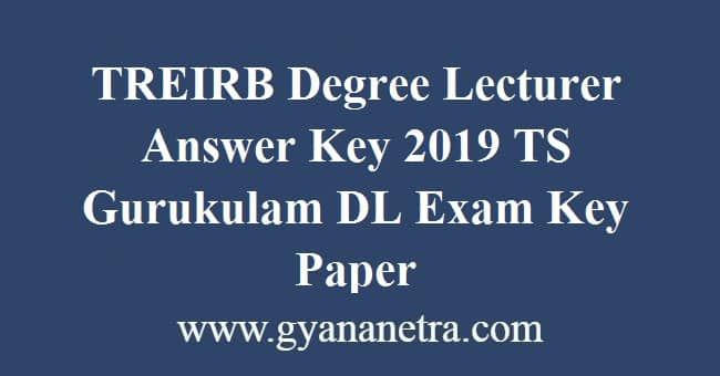 TREIRB Degree Lecturer Answer Key