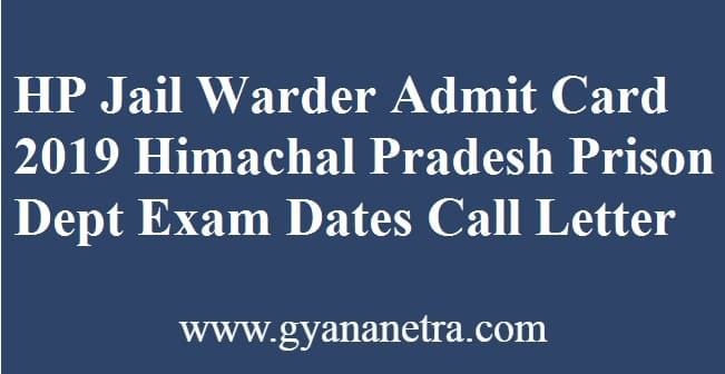 HP Jail Warder Admit Card