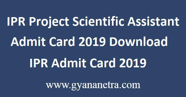IPR-Project-Scientific-Assistant-Admit-Card