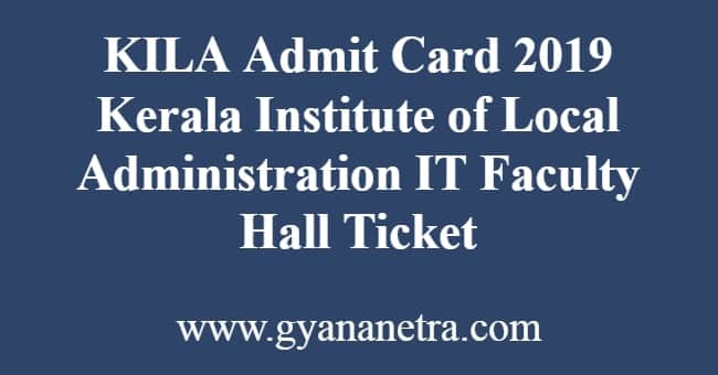 KILA Admit Card