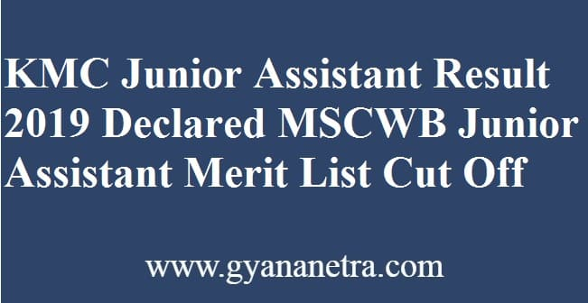 KMC Junior Assistant Result