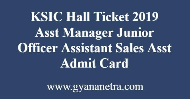 KSIC Hall Ticket