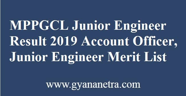 MPPGCL Junior Engineer Result