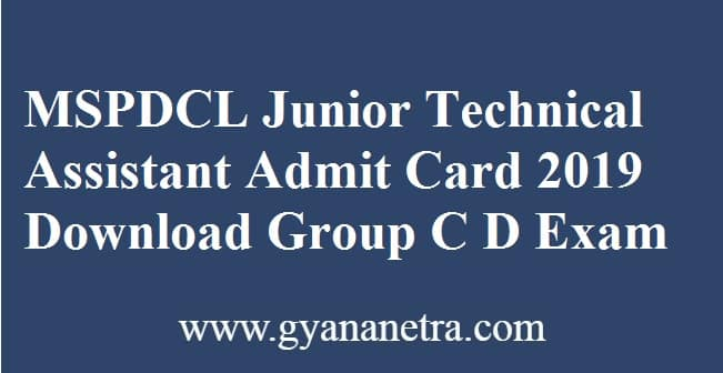 MSPDCL Junior Technical Assistant Admit Card