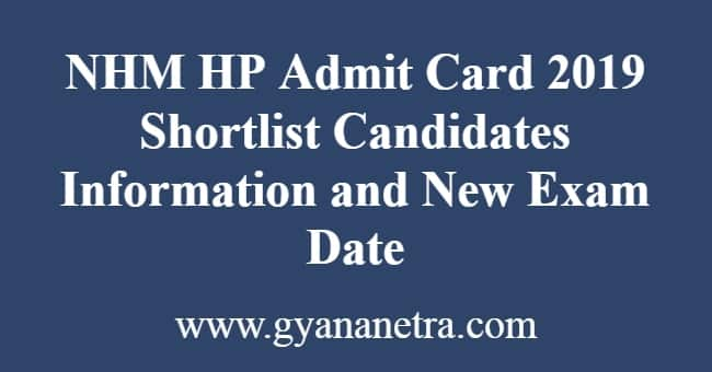 NHM HP Admit Card
