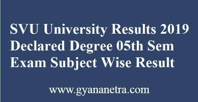 SVU University Results
