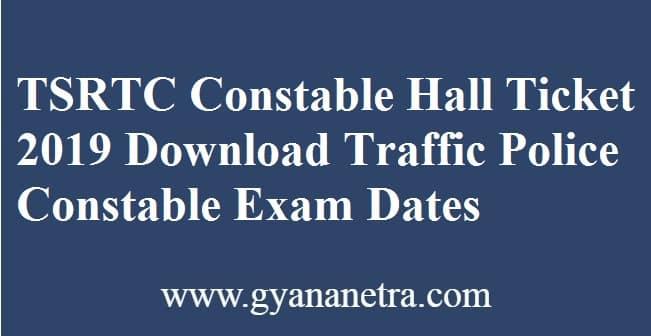 TSRTC Constable Hall Ticket