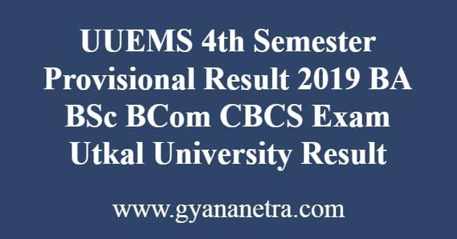 UUEMS 4th Semester Provisional Result