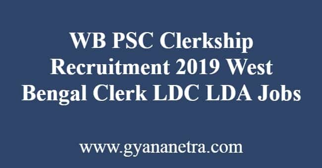 WB PSC Clerkship Recruitment