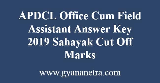 APDCL Office Cum Field Assistant Answer Key