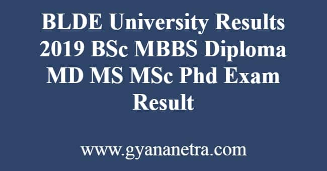 BLDE University Results