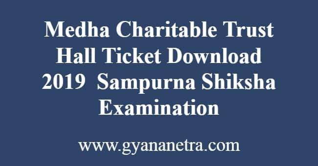 Medha Charitable Trust Hall Ticket Download