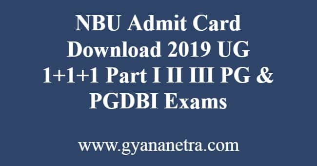 NBU Admit Card Download