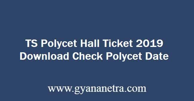 TS Polycet Hall Ticket 2019