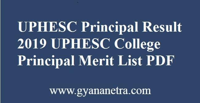 UPHESC Principal Result