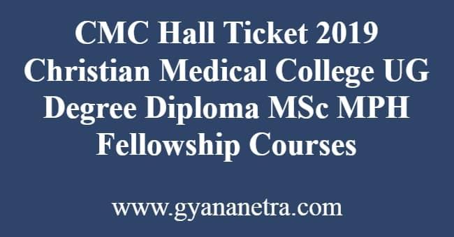 CMC Hall Ticket