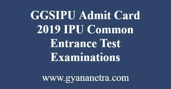 GGSIPU Admit Card
