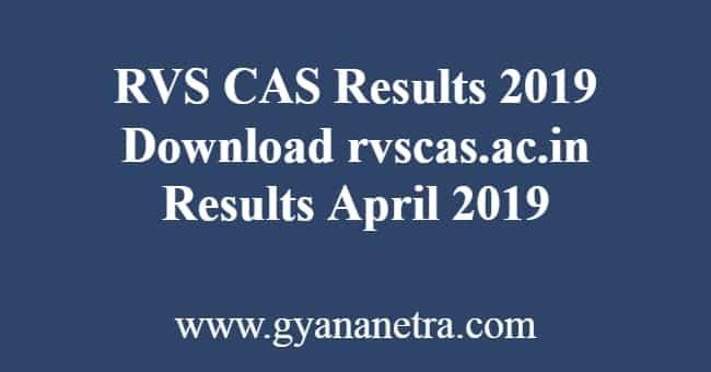 RVS CAS Results