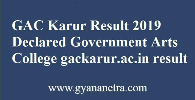 GAC Karur Result