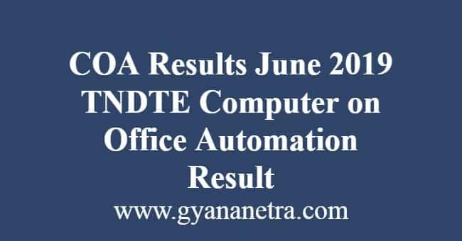 COA Results June