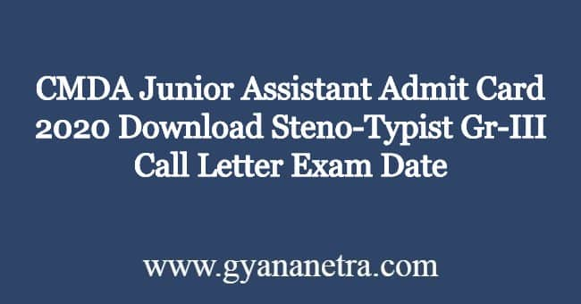 CMDA-Junior-Assistant-Admit-Card