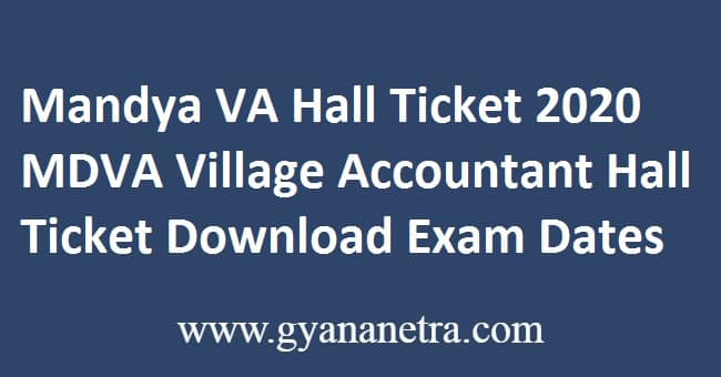 Mandya VA Hall Ticket