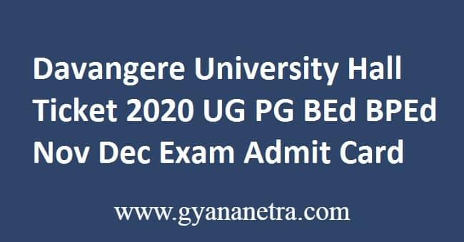 Davangere University Hall Ticket Download