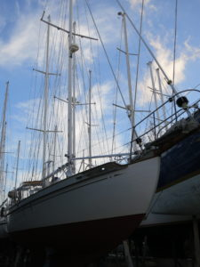 Photo: Tayana 37 Gyatso at Marmaris Yacht Marina. Credit: Lisa Borre.