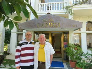 Photo: outside the Hotel Carikci in Marmaris, Turkey. Credit: Lisa Borre.