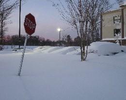Photo: Record-setting snowfall in Annapolis 2010. Credit: L. Borre.